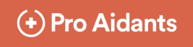 Pro Aidants Logo Orange Hintergrund